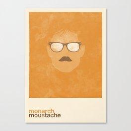 Monarch Moustache Canvas Print