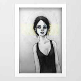 Beginning (the Girl o1) Art Print