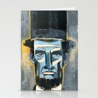lincoln Stationery Cards featuring Lincoln  by Oliver Dominguez