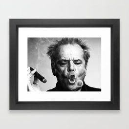 Jack Nicholson Cigar Framed Art Print