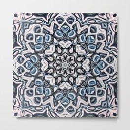 Textured Kaleidoscope Metal Print