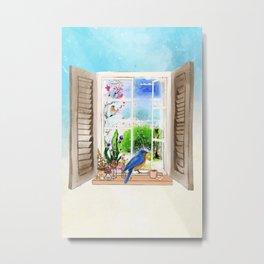 natural window Metal Print