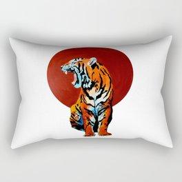 Tiger and Sun Rectangular Pillow