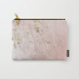 Marble Pattern in Pink and Gold Carry-All Pouch