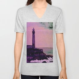 Golden Hours / Lighthouse Barlovento La Palma Unisex V-Neck