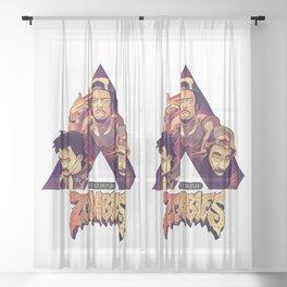 Flatbush Zombies #44 Sheer Curtain