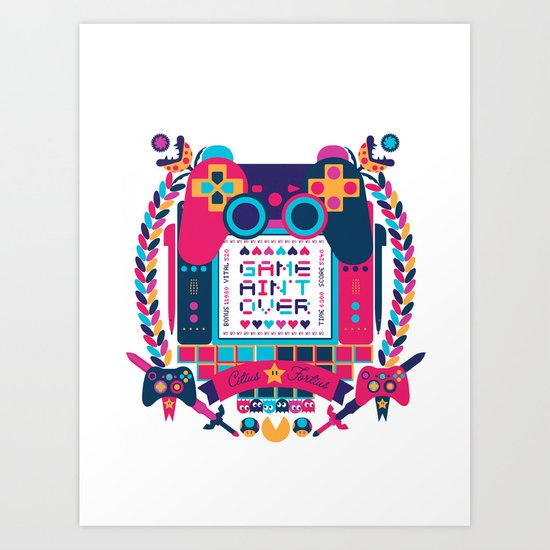 FOTOGRAMAS / GAME AIN'T OVER Art Print