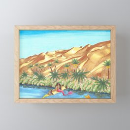 A Mermaid Oasis Framed Mini Art Print