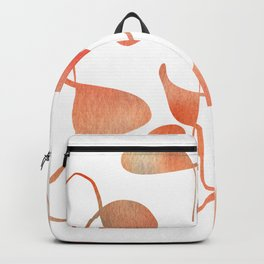 Organic abstract watercolor in living coral Backpack