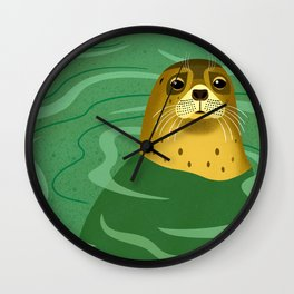 Leopard Seal Wall Clock
