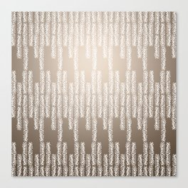 Eye of the Magpie tribal style pattern - champagne Canvas Print