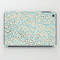 book iPad Cases featuring Berry Branches – Turquoise & Gold by Cat Coquillette