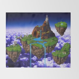 Floating Kingdom of ZEAL - Chrono Trigger Throw Blanket