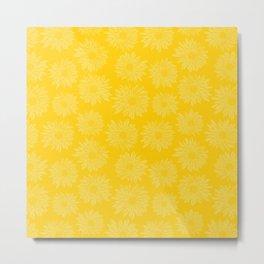 Gerbera Flowers Yellow Metal Print