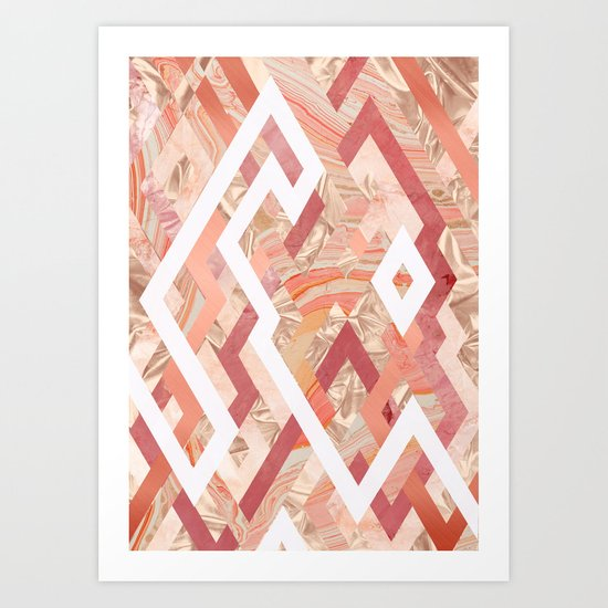 Pink Geometrics Art Print