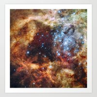 outer space Art Prints featuring Outer Space by Rab Sizzle