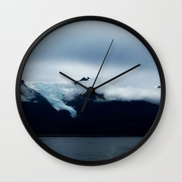 Mendenhall Glacier from boat Wall Clock