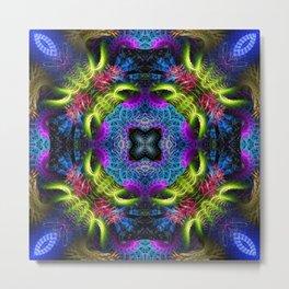 Geometric Fractal - Goa Nights Metal Print