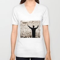 concert V-neck T-shirts featuring concert by fscVisuals