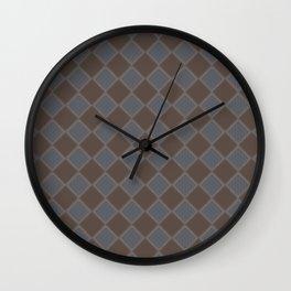 Primitive Tudor Style Diamond Pattern Wall Clock