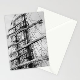 Sailing Ship black and white photo 2 Stationery Cards