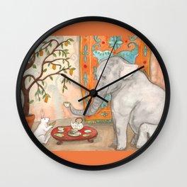 Tea with Elephant Wall Clock