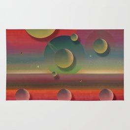 """Pastel planets Fantasy Sci-fi"" Rug"