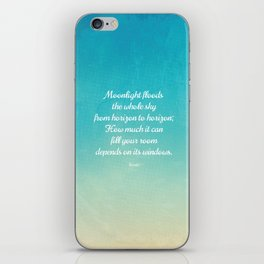 Moonlight Floods the Whole Sky - Beautiful Quote by Rumi iPhone Skin