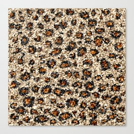 Scalloped Leopard Canvas Print