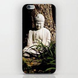 Buddha Zen Meditative Earthy White Brown and Green Art Print iPhone Skin