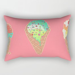 Neon Cones Rectangular Pillow