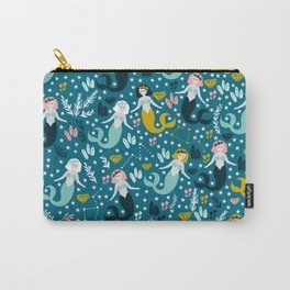 Cute Mermaid and Stars Carry-All Pouch