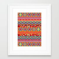india Framed Art Prints featuring India Style Pattern (Multicolor) by Diego Tirigall