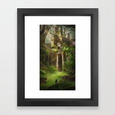 Forest Temple  Framed Art Print