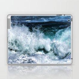 Dark Blue Waves Laptop & iPad Skin