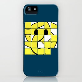 Acid Smiley Shuffle Puzzle iPhone Case