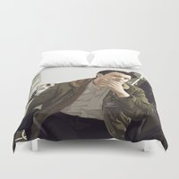 british Duvet Covers featuring British Intelligence by AdamAether