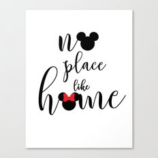 no place like home Canvas Print