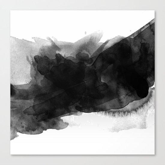 Minimalist watercolor ink Canvas Print