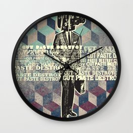cut.paste.destroy Wall Clock