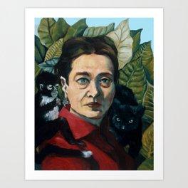 Simone DeBeauvoir Kunstdrucke