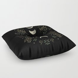 Moonlight Garden - Olive Green Floor Pillow