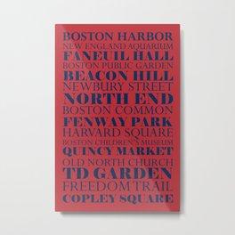 Boston Places Metal Print
