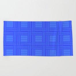 Elour Blue Tile Beach Towel