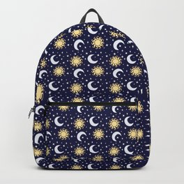 Greek Inspired Suns and Moons with Stars Backpack