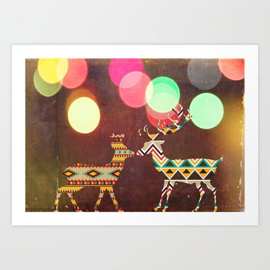 Disco Deer Art Print