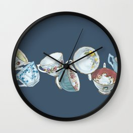 Dancing Queens in Navy Wall Clock
