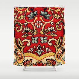 Detail of a vintage carpet. Fluffy texture pattern Shower Curtain