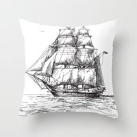 marine Throw Pillows featuring marine by ismailburc