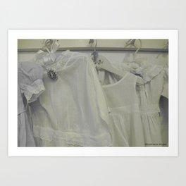 Vintage Closet - Vintage Linen Children's Dresses - Baby Love - Nursery Decor Art Print